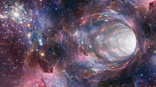 Are There Wormholes at the Black Holes' Core?