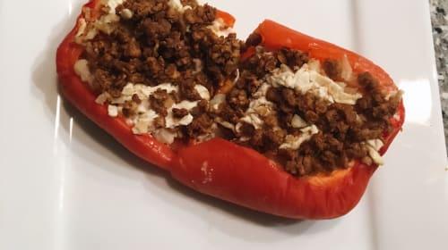 Stuffed Bell Peppers: Vegan & Non-Vegan
