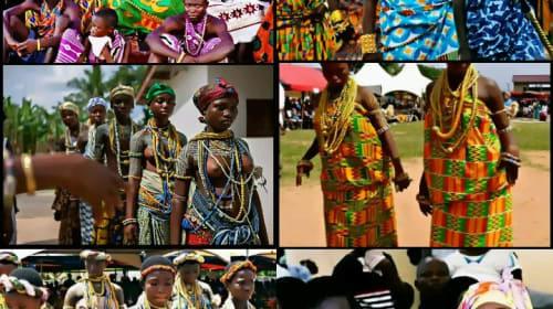 The Stylish Traditional Art of Ngmayem Festival, Ghana