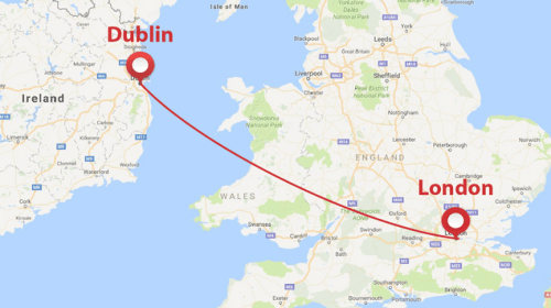 Dublin and London's Route Network, and Its Features