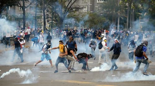 Protests in Venezuala