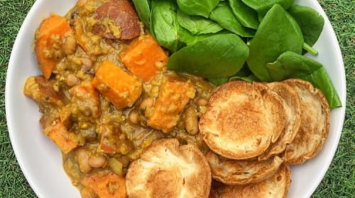 Vegan Sweet Potato and Lentil Curry
