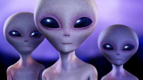 Aliens or Future Humans?