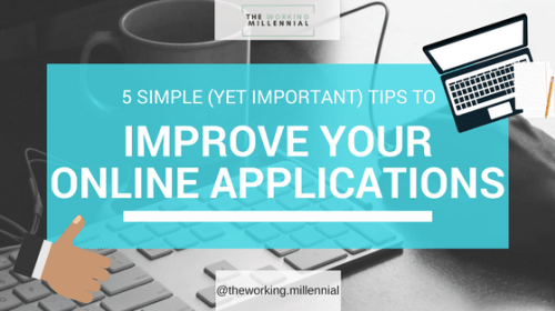 How to Improve Your Online Job Applications