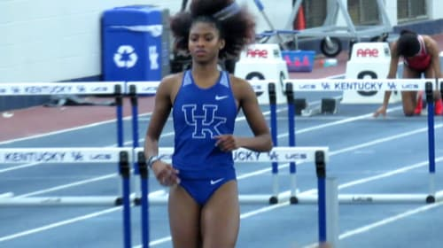 Masai Russell Victorious in Outdoor Debut