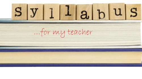 Syllabus for My Professor