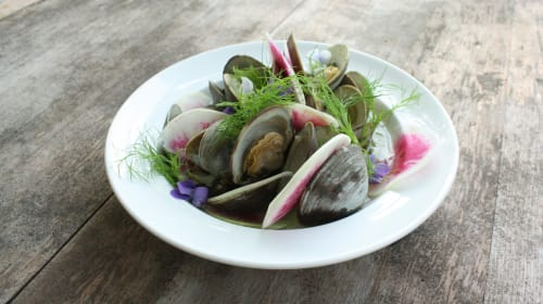 Bougie Clams and a Costco Table