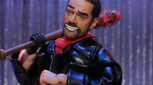 First Clip From Robot Chicken's Walking Dead Special Takes Carl's Relationship With Negan To A Whole New Level
