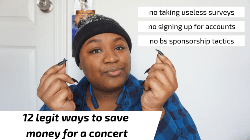 12 Legit Ways to Save Money for a Concert