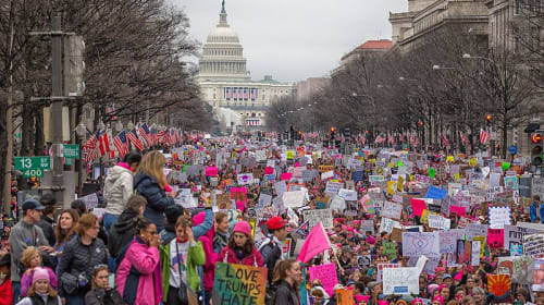 Women, the Anti-Trump March, and Gun Rights
