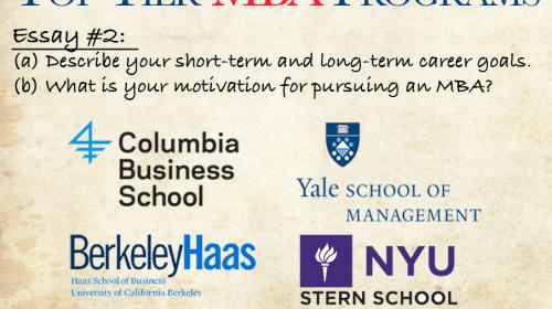 Top Tier MBA Application Essay #2