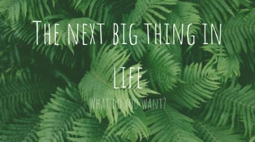 The Next Big Thing in Life: What Do You Want to Do?