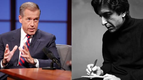 "Brian Williams Invokes Leonard Cohen, Talks About ""Beautiful Weapons"""