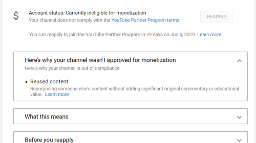 "How Smaller YouTube Channels Are Being Demonetized for ""Reused Content"""