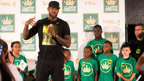 LeBron James Opens School in Akron