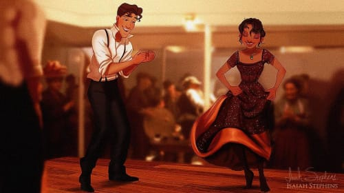 Draw Me Like One of Your French Girls: Disney Couples Reenact Scenes From 'Titanic'