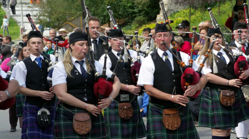 Mahopac Tenor Drummer Enjoys Stepping in Place with Bagpipe Band