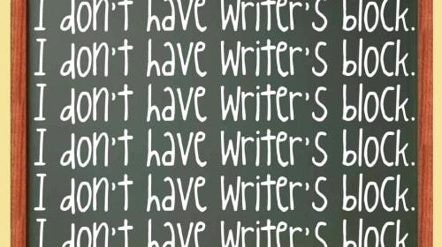 The Worst Type of Writer's Block