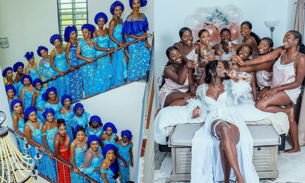 7 Most STUNNING Nigerian Bridesmaids (Photos).