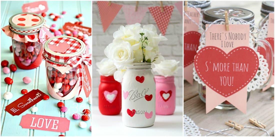 Easy DIY Valentine\'s Day Mason Jar Gift Ideas | Lifehack