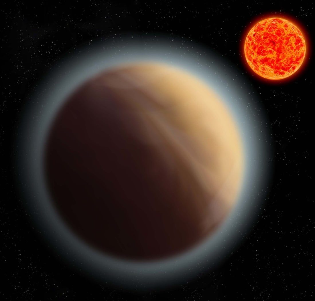 Artist's conception of the super-Earth exoplanet GJ 1132b. Image Credit: MPIA