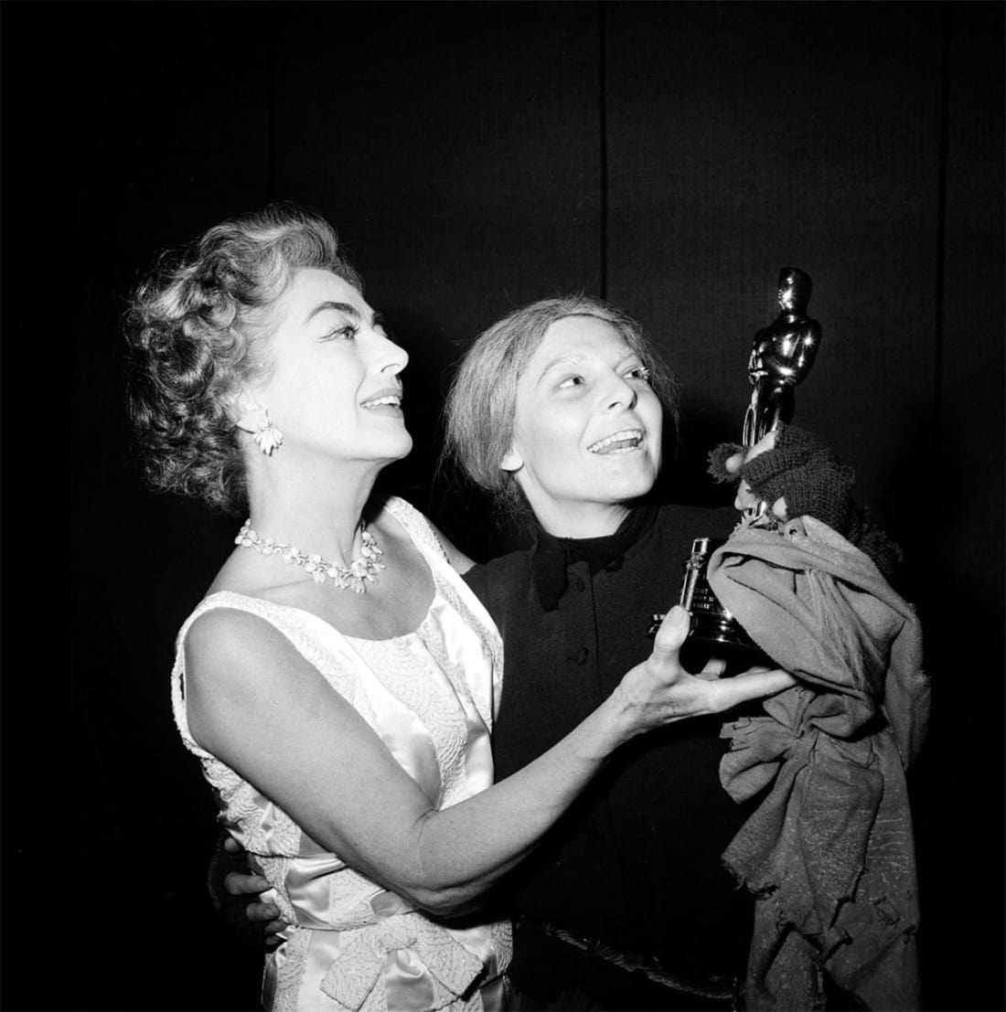 Anne Bancroft and Joan Crawford, 1963