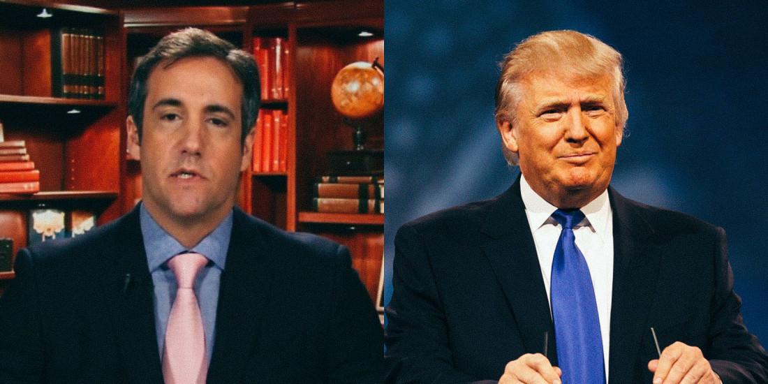 Michael Cohen (L) and Donald Trump (R)