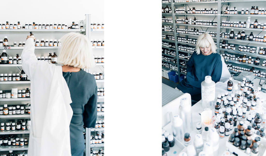 Sissel Tolaas in her Berlin lab