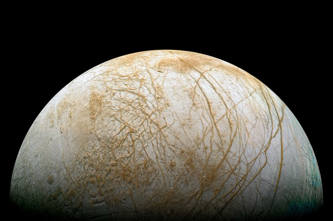 Ocean world: new proposed mission would search for evidence of life in Europa's subsurface water ocean. Photo Credit: NASA/JPL/Ted Stryk