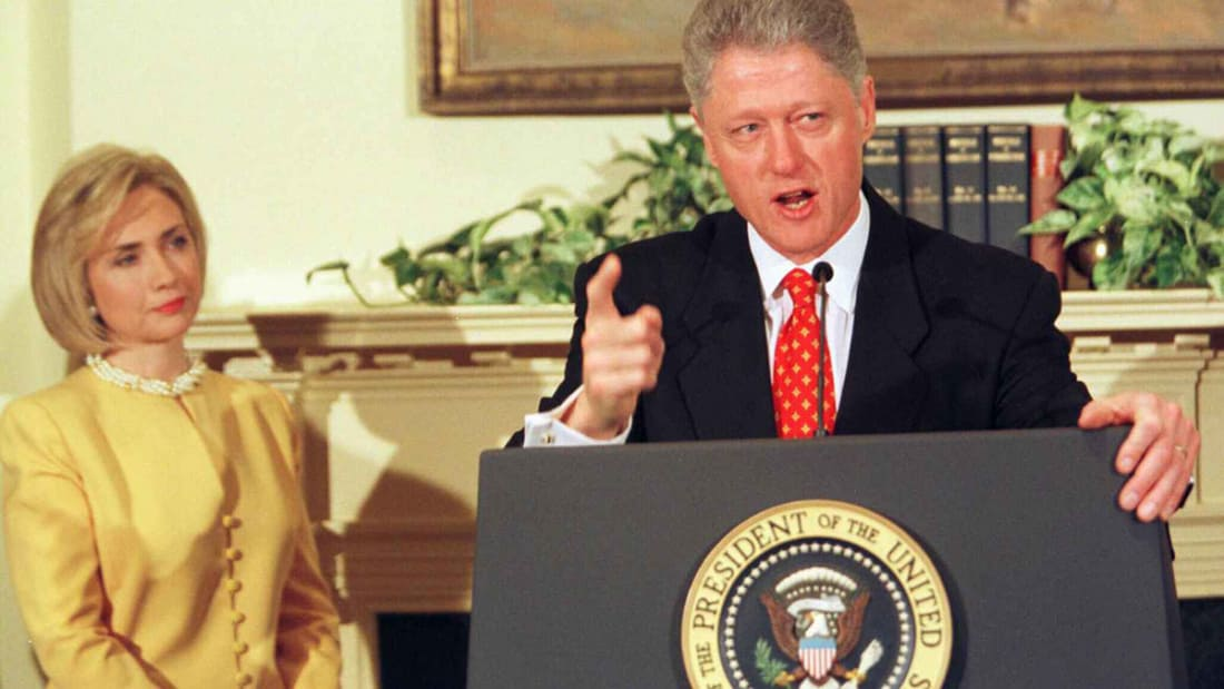 Bill Clinton confirmed the sexual affair in 1998.