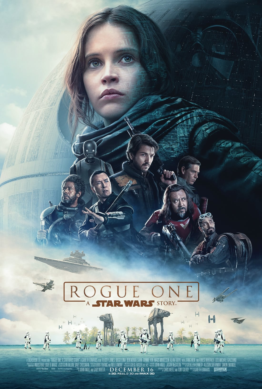 Rogue One: A Star Wars Story (2016) movie poster, property of Disney and Lucasfilm, via Fair Use.