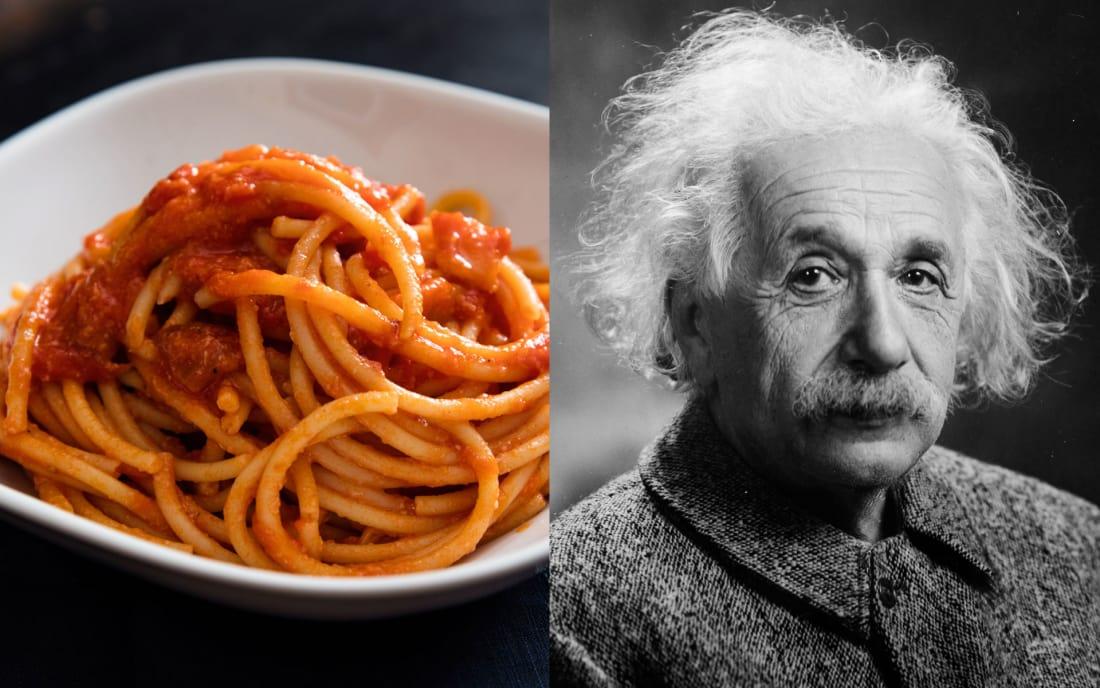 Albert Einstein: Pasta