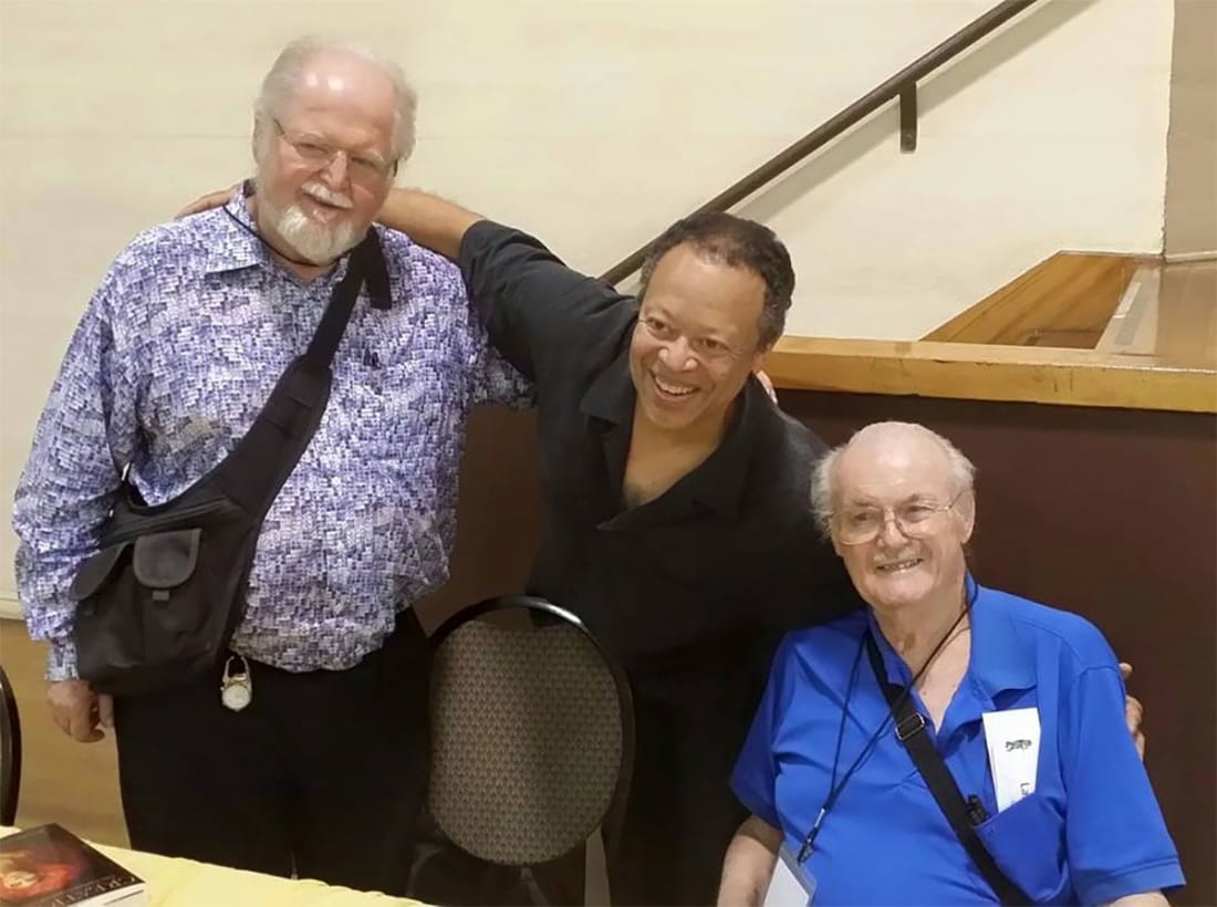 Science Fiction writers Larry Niven, Steve Barnes and Jerry Pournelle