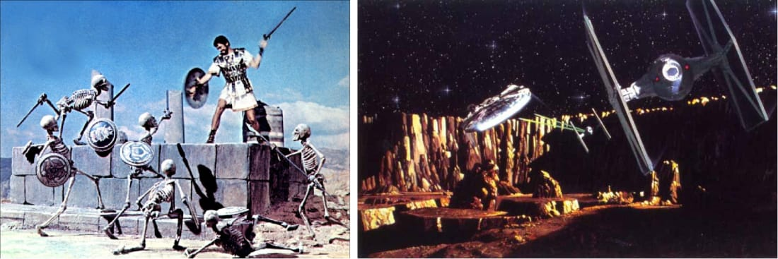 The same thing, but in different guise (left Jason and the Argonauts, Columbia Pictures, 1963; right, The Empire Strikes Back, Lucas Film / Twentieth Century Fox, 1980)