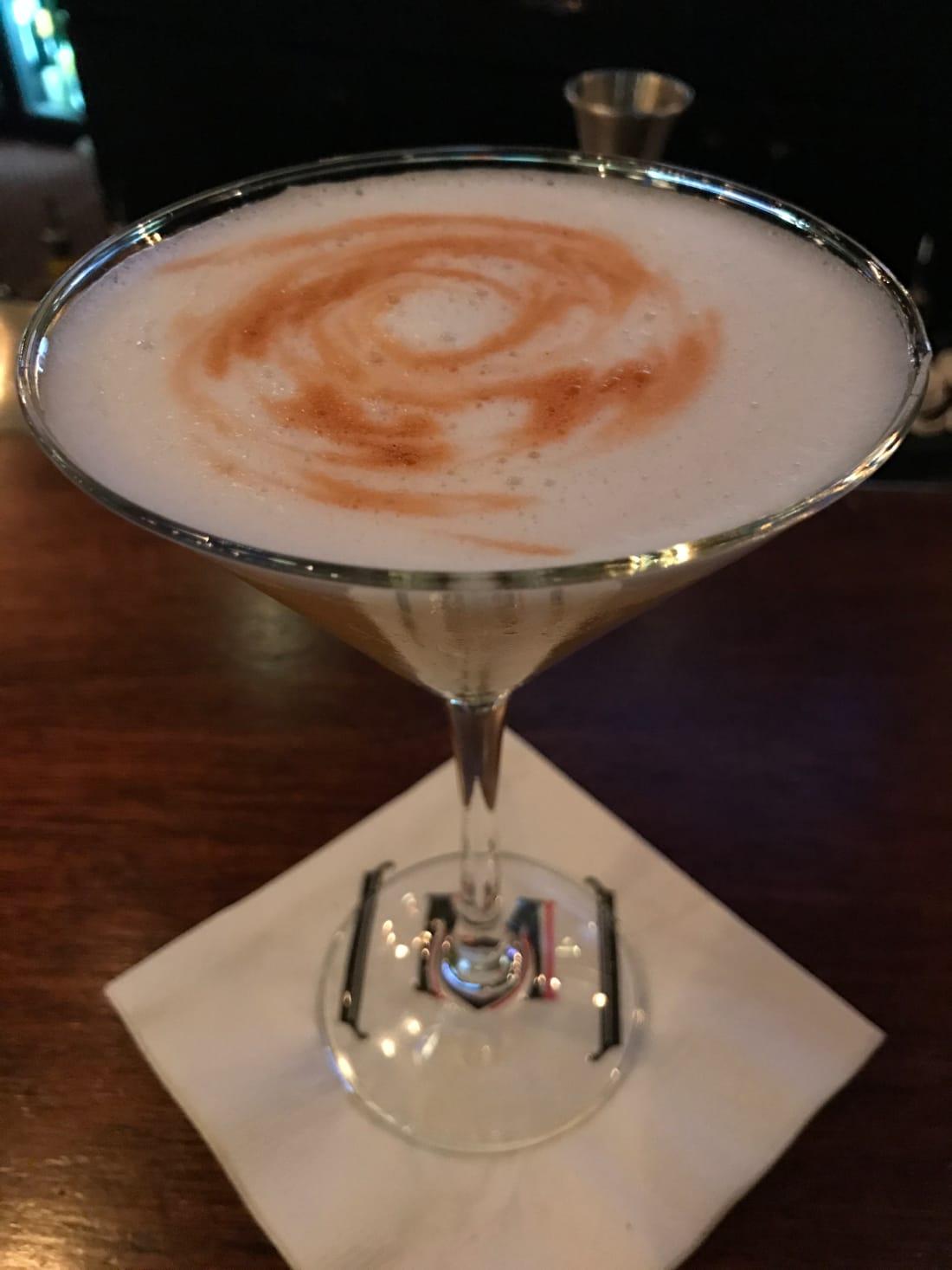 The gold martini