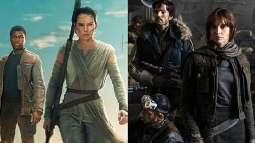 Two Star Wars, two sets of heroes, two types of story.