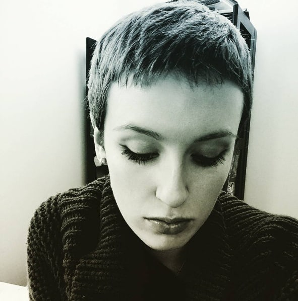 A French New Wave actress from 1959. Just kidding. It's me.  (Sky Vettel)