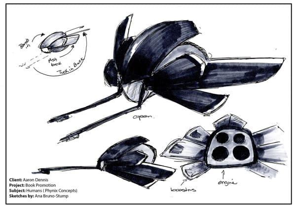 Space craft concept art