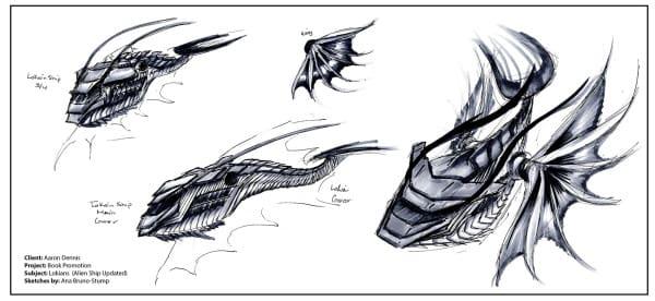 Alien craft concept art