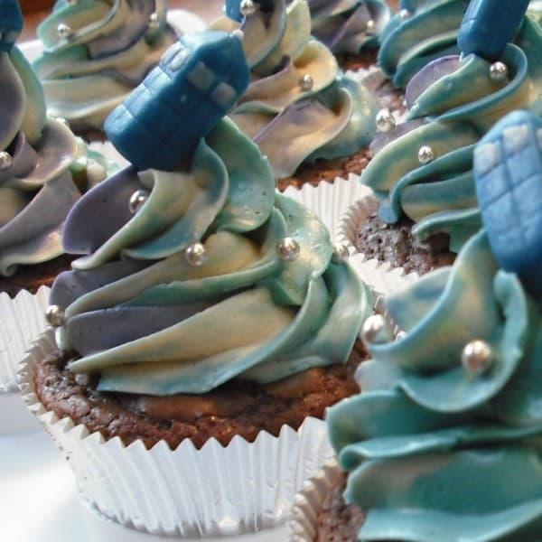 TARDIS Cupcakes