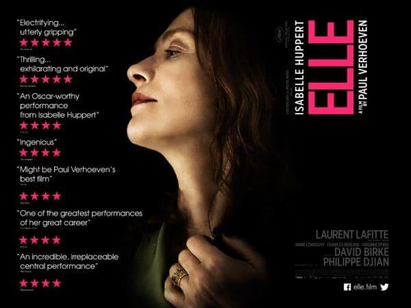 Evocative poster art for Elle