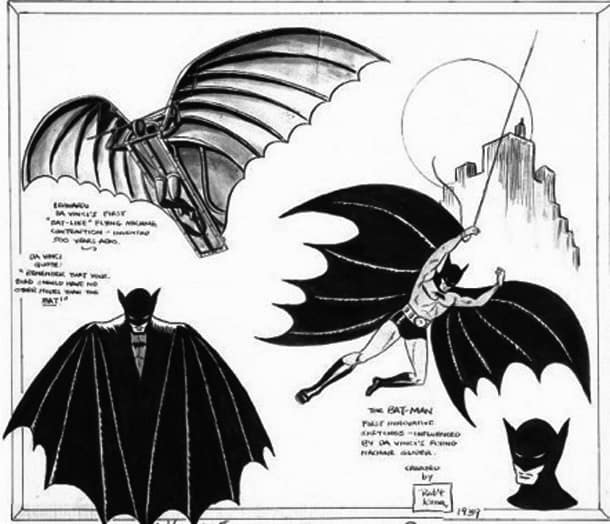 The Original Bob Kane Batman Sketches
