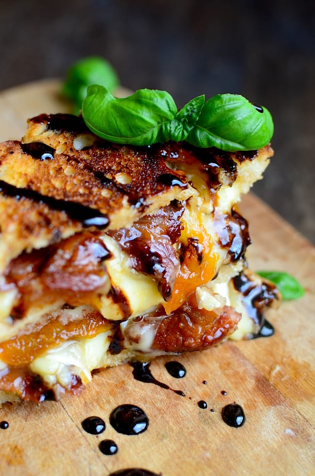 Bacon, Brie and Apricot Grilled Cheese