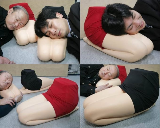 "Hizamakura lap pillow, literally ""knee pillow"" (Yes, this exists.)"