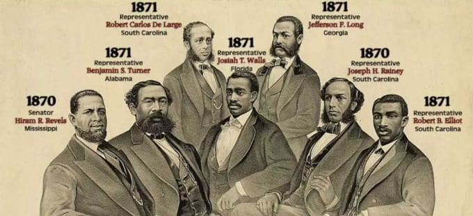 The first black senators were all Republicans.