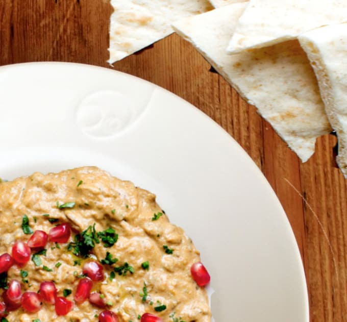 White chocolate baba ganoush
