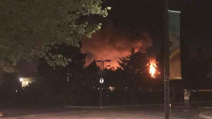 "The abandoned ""Manhattan Project"" set ablaze at SFUAD"