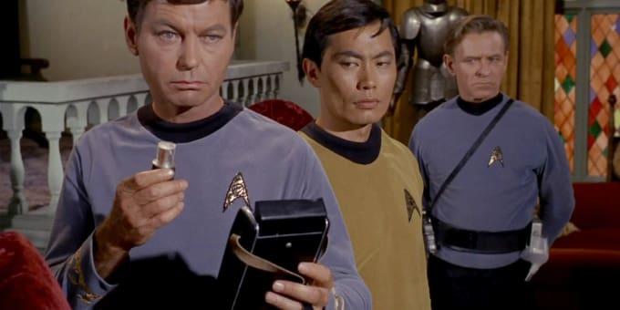 McCoy, wishing he had a stethoscope...