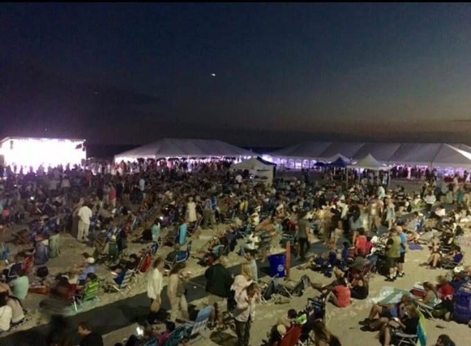 Enjoy food and a movie on Long Beach's fantastic beach