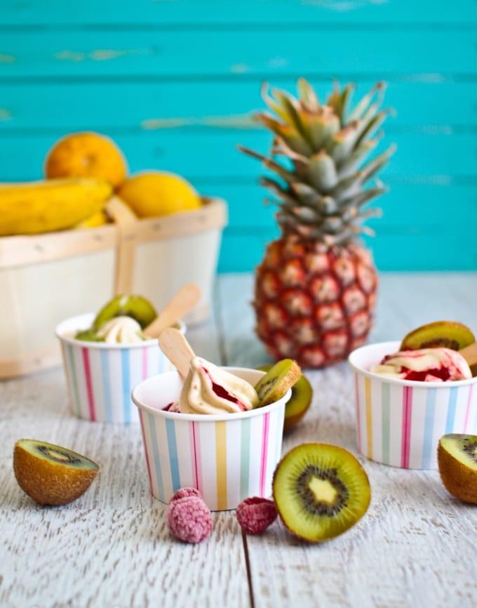 Fruity Ice Cream Cups
